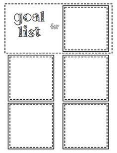 FREE printable version inspired by http://cornflowerbluestudio.blogspot.com/2012/02/diy-rotating-goal-list.html