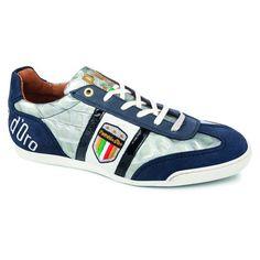 Op voetbal geinspireerde trendy en sportieve heren schoen van Pantofola. Het bovenwerk is uitgevoerd in leder en deze sneaker heeft een comfortabele pasvorm