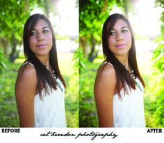 how to post process backlit photos in Photoshop Elements by Catherine Herndon