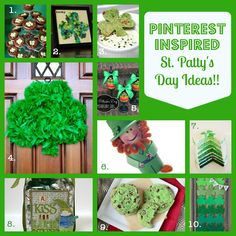 St. Patrick's Day Crafts & Recipes: Pinterest Inspired Fun!! - A Little Claireification