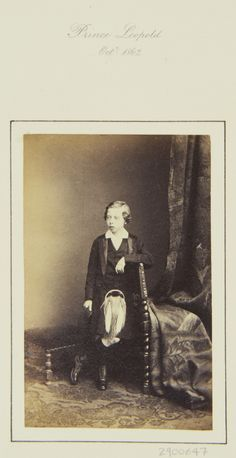 Prince Leopold, 1862 [in Portraits of Royal Children Vol.6 1862-1863] | Royal Collection Trust