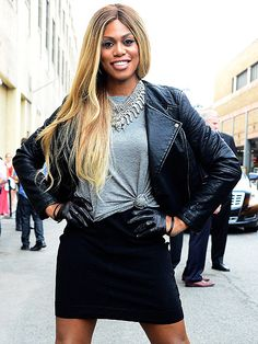 Star Tracks: Friday, June 12, 2015 | LAVERNE ON THE STREET | Heading into Orangecon, Entertainment Weekly cover girl Laverne Cox pauses for a photo op.