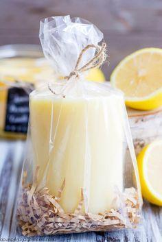 DIY Lemon Beeswax Candle (pillar, jar or melts... Deb)