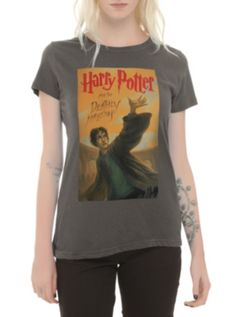 Harry Potter And The Deathly Hallows Book Cover Girls T-Shirt at HotTopic.com