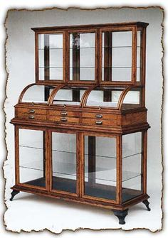 Mariposa Triple Tower in from J. Winchester Company in Ojai, CA Wood Jewelry Display, Wood Display, Unique Furniture, Vintage Furniture, Furniture Design, Antique Display Cabinets, How To Antique Wood, Woodworking Plans, Woodworking Videos