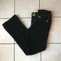 Marlow Vintage Original Black Brushed Cotton Low Rise Boot Cut Pants Jeans 27 #Marlow #PinwhaleCorduroy #Casual