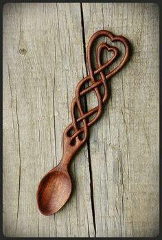 Celtic Knot Lovespoon by pagan-art.deviantart.com on @deviantART