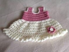 Newborn frilly flower dress