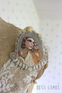 Love the work of Irena Gasha. This is a wonderful and unique use of embroidery…