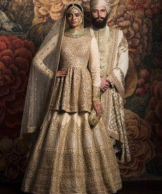 Sabyasachi bride # peplum lehenga # hand crafted #