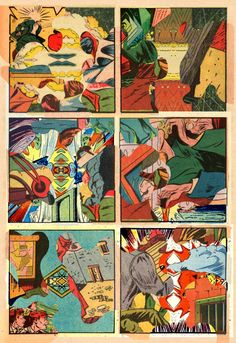 Samplerman collage of old comic book bits.