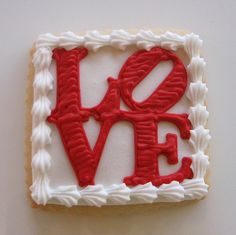 Love Cookie (it takes a steady hand wonder if a stencil was used as a guide for the outline)***LL