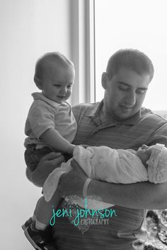 www.facebook.com/JeniJPhotography in hospital, newborn, baby sister, baby girl, dad of two, big brother, siblings