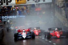 René Arnoux (Ferrari) VS Andrea De Cesaris (Ligier) VS Michele Alboretto (Ferrari) Grand Prix de Monaco 1984