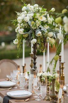 Featured Photographer: Samuel Lippke Studios; Wedding reception centerpiece idea.