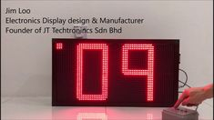 Custronics Large format 320mm LED Double digit count down timer display ...