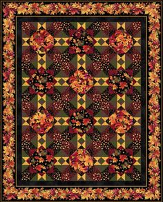 Path In The Woods by Heidi Pridemore Fall Bounty. Free pattern from P and B textiles