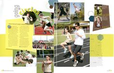 Great Yearbook Page Layout Example from Pleasant Grove HS, Texarkana, TX.