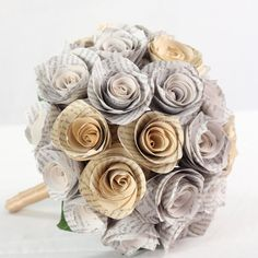 Hey, I found this really awesome Etsy listing at https://www.etsy.com/listing/179017028/bridal-bouquet-paper-flower-bouquet-for