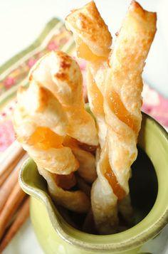 Recetas de comida milagro: Apple Cinnamon Twists Puff Pastry