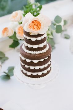 Piping perfection: http://www.stylemepretty.com/2015/04/08/20-of-our-favorite-naked-cakes/