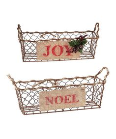 Loving this Nested Baskets - Set of Two on #zulily! #zulilyfinds