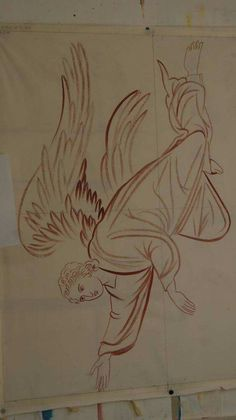 angel for the Lamentation Byzantine Icons, Byzantine Art, Religious Icons, Religious Art, Sketch Pen Drawing, Order Of Angels, Crafty Angels, Angel Sketch, Cartoon Sketches