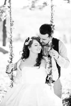 Swings make the cutest photo props! Captured by Deep Grey Photography