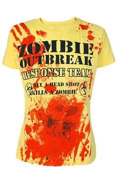 Darkside Clothing - Zombie Response Team Girl's T-Shirt - $19.99