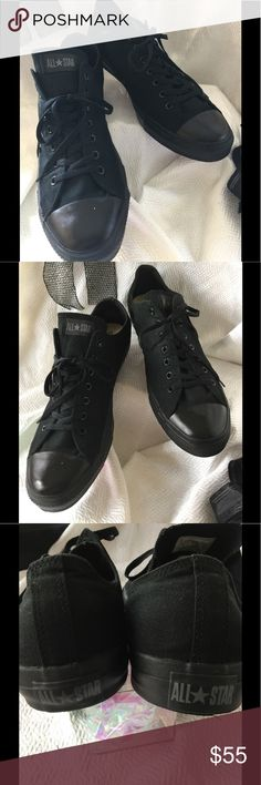 Men's Extended Size Converse Brand new never worn Size 16 (special order) men's all black Converse. Excellent unused condition. No pets/smoke closet Converse Shoes Athletic Shoes