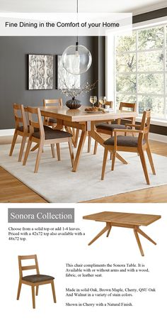 Sonora Table Dining Furniture Tables   Amish Furniture   We Have Over 100  Solid American Cherry And Oak Amish Furniture Items. Find Custom Quality  Furniture ...