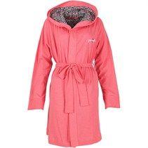 Pineapple Womens Jersey Hooded Robe Bubblegum Pink