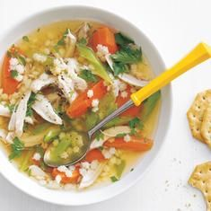 Slow-cooker Chicken And Pasta Soup (via foodily.com)