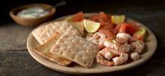 Gluten Free Smoked Salmon and Prawn Platter recipe