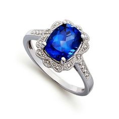 Antique style sapphire wedding ring.