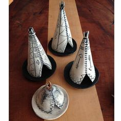 "Ahura Teepee Incense Holder ($225) ""These are amazing gifts for the home. They are handmade clay teepees that burn little incense inside."""
