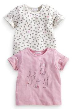 Next:日本で今すぐオンラインショッピング: モノトーン バニー 水玉 Tシャツ 2 枚パック (0~18 か月) Next:日本