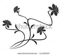 vector flower pattern on white background - stock vector