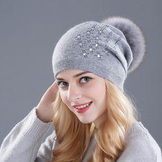 Fur Wool Pom Pom Beanie