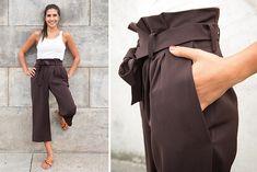 Bring' ein wenig französische Eleganz in deine Sommergarderobe und nähe dir eine Culotte-Hose! Hohe Taille, Bundfalten und fließender Stoff machen diese Hose zum echten Hingucker. DasModell ist alltags- wie businesstauglich und optimal auch auf Reisen. Hier geht's zur Anleitung für Fortgeschrittene von Vivien Altmann!
