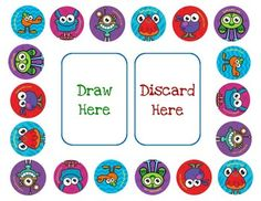 Each student starts with a basic GoNoodle monster (6 different monsters included).  Use this game with any flashcards you already have.  If a student answers a card correctly, they roll the dice and move around the board.  Every time they land on their own monster, they can level up their card.