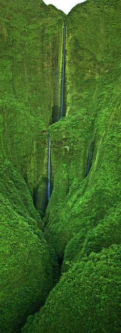 Honokohau Falls, Hawaii, USA #LandscapeNature