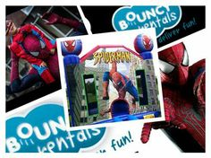 The #Amazing #Spiderman Moonbounce is sure to guarantee the coolest party for your kid.
