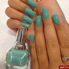 I am loving this color right now. Sea foam.
