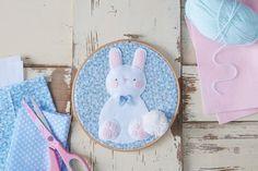 How to Make Bunny Hoop Art #embroidery #hoop #art #easter #bunny