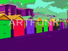 Brighton huts by ARTFUNK by Artfunkimages on Etsy, £10.00