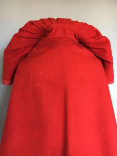 Rare Short Cloak c 1770 18th Century Clothing, 18th Century Fashion, Cloak Pattern, Red Silk Dress, Hooded Cloak, Haute Couture Fashion, Historical Clothing, Vintage Costumes, Fashion History