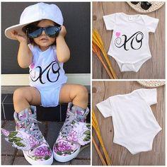Summer style baby girl romper - BabyRebate