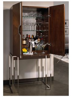 Contact us on how to order this Collins Bar by Mitchell Gold + Bob Williams Luxury Furniture, Contemporary Furniture, Furniture Design, Bar Furniture, Home Wet Bar, Bars For Home, Gold Interior, Interior Design, Bar Counter Design
