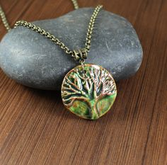 Tree of Life  Rustic Romantic  Woodland Green Glaze  by KLFStudio